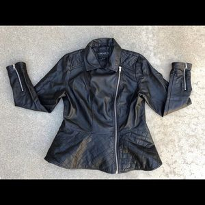 Forever 21 Plus Women's Faux Leather Moto Jacket